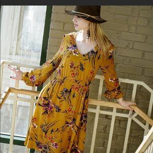 Dresses & Skirts - Yellow floral dress